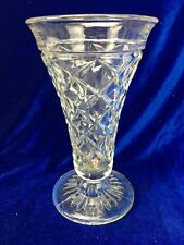 Vintage Depression Glass Vase - Flower Posy Shabby Art Deco Clear Cone