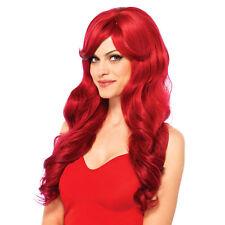 Leg Avenue-costume-perruque longue et Ondulée Rouge
