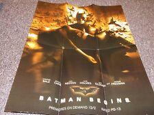 Batman Begins promo cable TV poster 2005 Time Warner