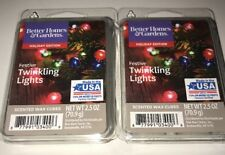 Better Homes & Gardens FESTIVE TWINKLING LIGHTS Scented WAX CUBES / 2 Packs