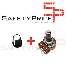 Embellecedor boton blanco + Potenciometro B100K lineal 100k - Arduino knob 16mm