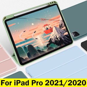 For iPad Pro 11/12.9 Case Air4 2020 Shockproof Silicon Smart Cover Pen Holder