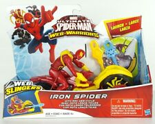 Marvel Ultimate Spider-Man Web Slingers Iron Spider With Arc Web Cycle 2015 O3