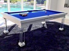 LUXURY CONVERTIBLE DINING POOL TABLE Billiard Dining Desk Fusion MONACO 8' 8 ft