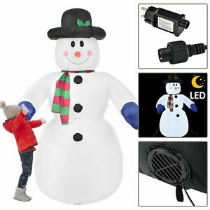 Aufblasbarer Schneemann Weihnachtsdekoration Deko LED Beleuchtung Juskys®