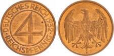 Weimar 4 Reichspfennig 1932 E fast Stempelglanz J.315