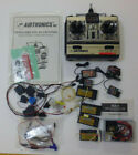 Box of old Airtronics 72mhz stuff, 8 receivers, one transmitter, servos, cables,