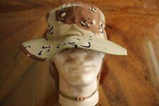 Usmc Marine Corps Popcorn Bdu Ripstop Camo Combat Floppy Hat Boonie Cap Sz 7 3/4