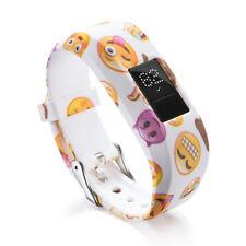 Garmin Vivofit Jr Replacement Silicone Band Wrist Strap Cute Art Emoji Fun Cheek