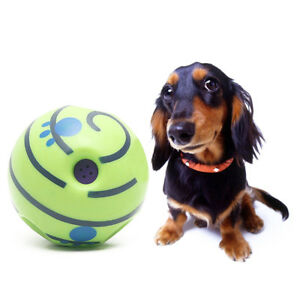 Wobble Wag Giggle Ball Dog Play Training Pet Toy With Funny Sound Hot No Harm UK