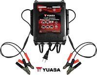 YUASA 2 Bank Battery Charger 6V 12V Dual Station Maintainer Repair Charging