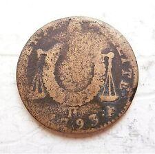 CONVENTION  1/2 sol aux balances 1793 H