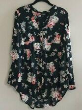 Torrid Button Down Babydoll Top Shirt Floral womens Size 00 Plus