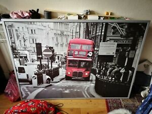 IKEA Vilshult Framed Wall Art - Red London Bus - Excellent Condition