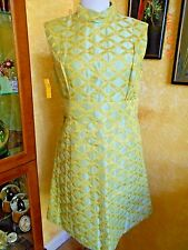 VINTAGE BRENNER COUTURE 60'S GREEN DRESS NEW OLD STOCK SZ 10 SLEEVELESS NWT