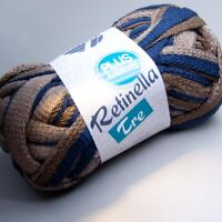 Lana Grossa Retinella Tre 304 taupe-braun-grau 100g Wolle (5.95 EUR pro 100 g)
