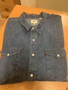 Levi Heavy Cotton Denim Shirt - XL - In Great Condition