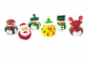 Quackers 6 Pack Christmas Rubber Toy Bath Ducks Santa Reindeer Stocking Filler
