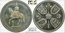 1953 GREAT BRITAIN FIVE SHILLINGS PCGS PR63CAM TONED COIN IN HIGH GRADE