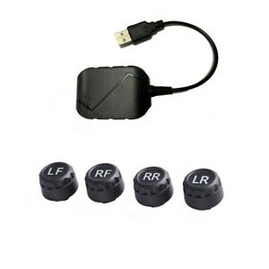 USB TPMS Tire Pressure Monitor Tyre Temp Alarm System For Android Car Nav Player