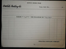 1930s COCA COLA SUPPLY ORDER FORMS POPLAR BLUFF MO VG CONDITION VINTAGE ORIGINAL