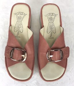FLY London Elax Leather Mules - Size 39
