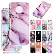 Soft Marble Slim Back TPU Case Shockproof Cover For Motorola G6 Play E5 Plus Z3