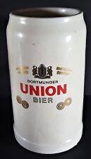 German Stein Dortmunder Union Bier Tankard 1 Litre 1 Liter Large