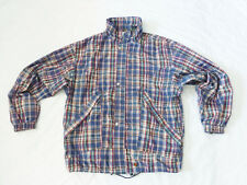 EXCELLENT CONDITION MENS SUNICE PLAID SPRING WINDBREAKER STYLE JACKET -SIZE L