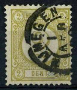 Netherlands 1876-1894 SG#137, 2c Olive-Yellow P12.5 Used Cat £4 #E86823