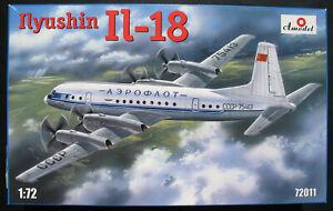 Amodel 72011 - Ilyushin Il-18 Civil Soviet AEROFLOT - 1:72 -Flugzeug Bausatz Kit