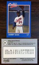 1989 Grand Slam TULSA DRILLERS-Rangers #25 SAMMY SOSA EX/M Card  B2018415