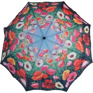 "Artbrollies ""Poppies""  Manual Open Close Folding Umbrella"