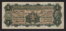 Australia R-26. 1 Pound (1927) -  Riddle/Heathershaw.. George V Portrait.  aVF