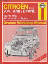 CITROEN 2CV 2CV4 2CV6 DYANE 4 / 6 & AMI 6 / 8 1967-1990 OWNERS WORKSHOP MANUAL
