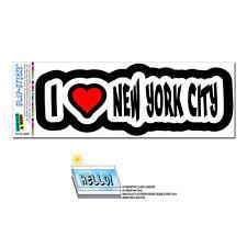 I Love Heart New York City - SLAP-STICKZ™ Car Window Locker Bumper Sticker