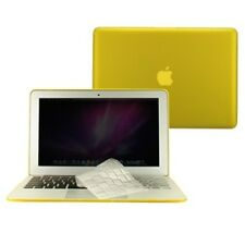 """3 in 1 Rubberized YELLOW Case for Macbook AIR 11"""" A1370 + Key Cover + LCD Screen"""