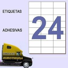TOP* 25  HOJAS ETIQUETAS AUTOADHESIVAS  EH.24 A-4( 70X37 mm) 600 ETIQUETAS ADHES
