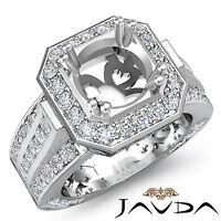 Vintage Engagement Diamond Antique Huge Ring Semi Mount 14k White Gold 1.65Ct