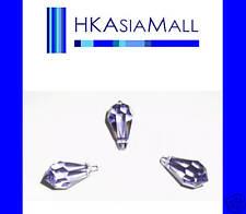 6 Swarovski Crystal Beads Teardrops 6000 11mm TANZANITE