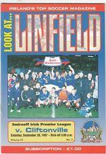 Linfield v Cliftonville 1997/8 Irish League