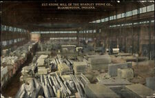 Bloomington IN Hoadley Stone Co Cut Stone Mill c1910 Postcard