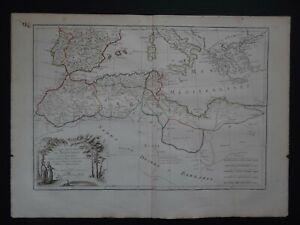 1782 Atlas Bonne / Lattre map  BARBARY COAST - AFRICA - Cotes de Barbarie  Maroc