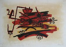 LAM WIFREDO WILFREDO LITHOGRAPHIE SIGNÉE AU CRAYON NUM/99 HANDSIGNED LITHOGRAPH