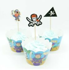 Pirate Cupcake Topper and Wrapper Set