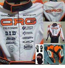 CRG GO KART RACE SUIT CIK/FIA LEVEL 2 APPROVED WITH MATCHING SHOES & GLOVES