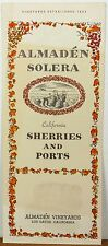 1960's Almaden Vineyards Solera Sherries & Ports brochure Los Gatos California b