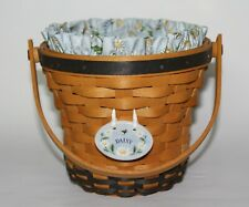 Longaberger 1999 Daisy Basket Combo with Liner Protector Tie On