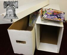 BCW Long Comic Box House Book Storage for Comics W/ Inner Support Storage Kit
