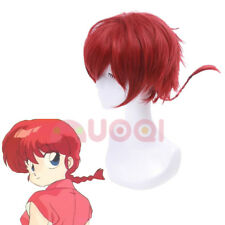 Ranma 1/2 Ranma Saotome Gender Bend Styled Red Short Fluffy Cosplay Full Wig